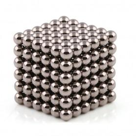 N42 216pcs Magnetic Buckyballs 5mm dia Sphere Neodymium Magnets Nickel(Ni-Cu-Ni) - color: Dark Nickel