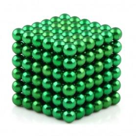 N42 216pcs Magnetic Buckyballs 5mm dia Sphere Neodymium Magnets Nickel(Ni-Cu-Ni) - color: Green